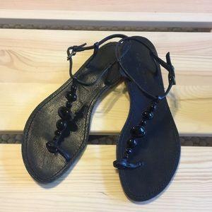 $395 Sigerson Morrison Cabochon Thong Sandals 7.5